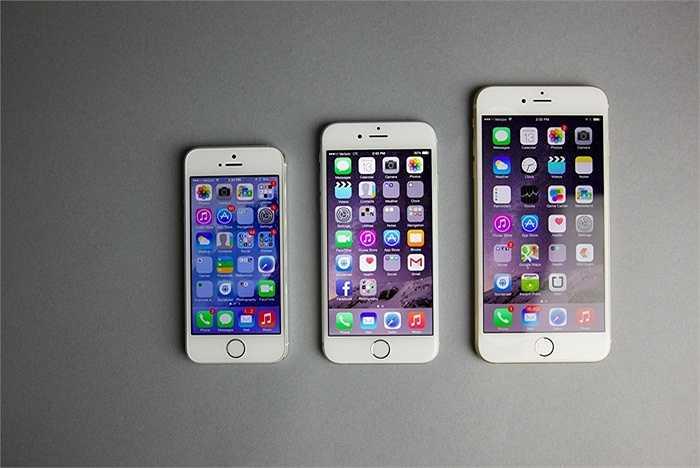 Và đây cũng là lần đầu tiên, Apple có xu hướng chạy theo thị trường khi iPhone 6/6 Plus được cải thiện rất nhiều về kích cỡ màn hình, 4,7 và 5,5 inch so với 4 inch trên iPhone 5S