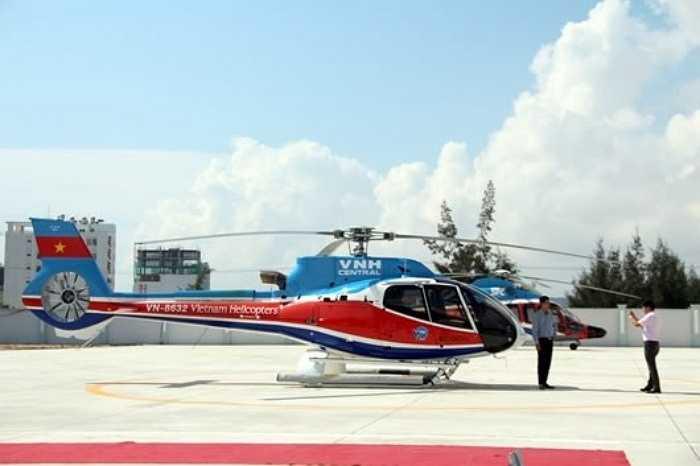 Trực thăng sử dụng cho dịch vụ bay du lịch thuộc chủng loại EC-130 T2. Đây là loại máy bay du lịch có thể chở được 5-6 hành khách do Airbus Helicopters sản xuất tại Pháp, có thiết kế đặc biệt giúp cho việc quan sát, ngắm cảnh thuận lợi.