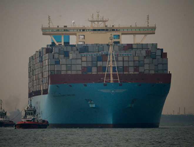 Tàu hàng Maersk Tigris. (Nguồn: rt.com)