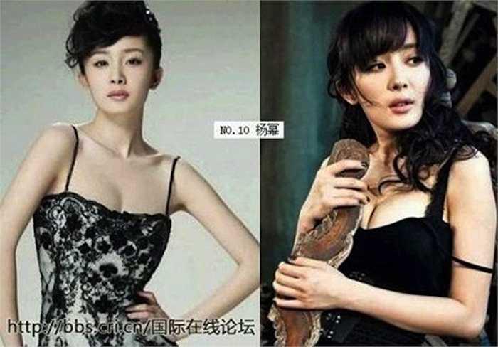 Trong các ngôi sao giải trí Trung Quốc, Chương Tử Di được đánh giá là một trong những sao có thềm ngực đẹp nhất. Thế nhưng mỹ nữ này vẫn nằm trong tầm 'soi' của cư dân mạng vì lý do tương tự.