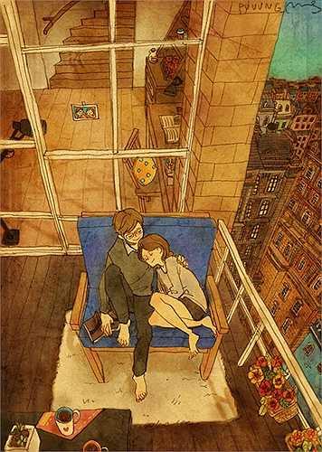 Mỗi bức tranh sẽ là một khoảnh khắc trong tình yêu mà mỗi ngưỡi dễ dàng bắt gặp được hình ảnh của mình trong đó