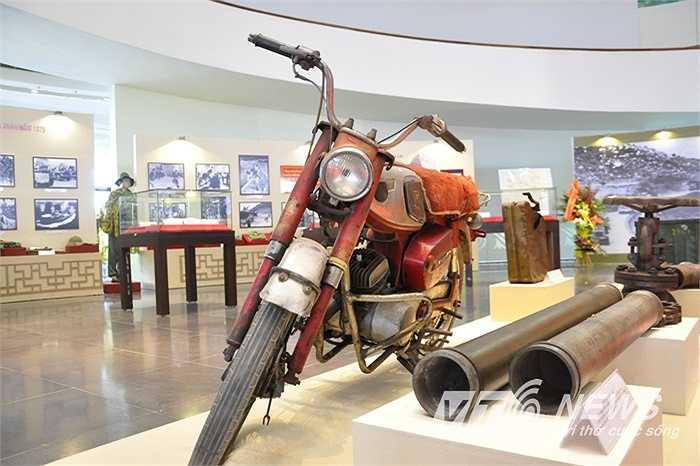 Chiếc xe được trưng bày tại bảo tàng Hà Nội nhân dịp kỷ niệm 40 năm Giải phóng miền Nam.