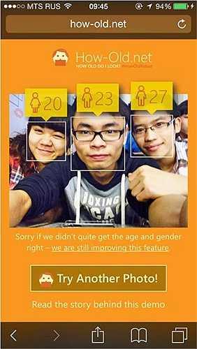 Sang một lần chơi khác, anh được dự đoán 23 tuổi khiến nhiều bạn bè vào bình luận khi nhận được kết quả hài hước.