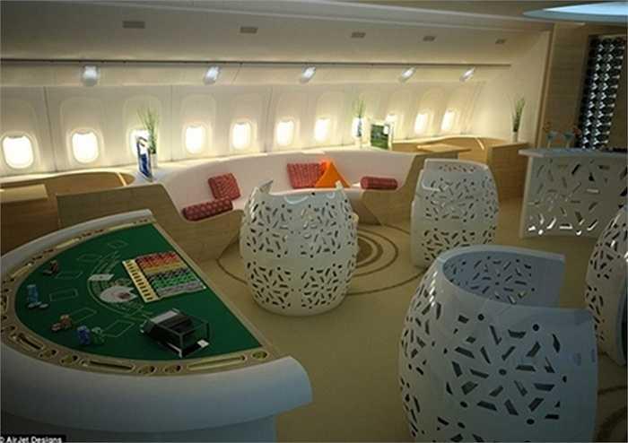 Một casino mini đạt chuẩn cho các hoàng thân Ả-rập giải trí.