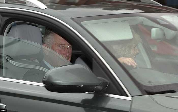 Mặc dù ở trong xe nhưng Thái tử không giấu đi được những nụ cười hài lòng