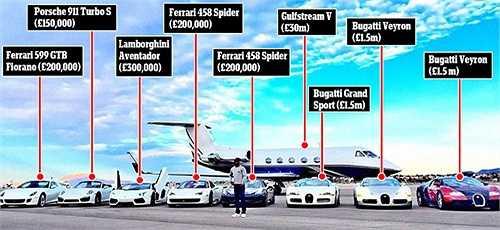Hiện Mayweather đang là chủ nhân của một chiếc Gulfstream V có giá 30 triệu bảng.