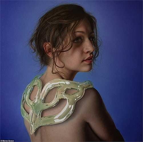 Đây là một cô gái được vẽ từ sơn dầu