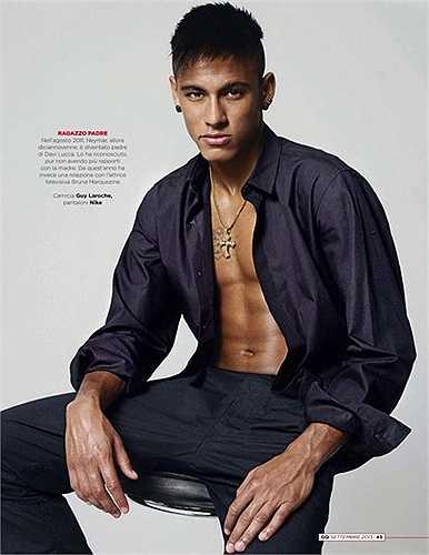 Neymar, ngôi sao cá tính mạnh và cũng rất đào hoa của Barca xếp thứ 9 với 3,6%.