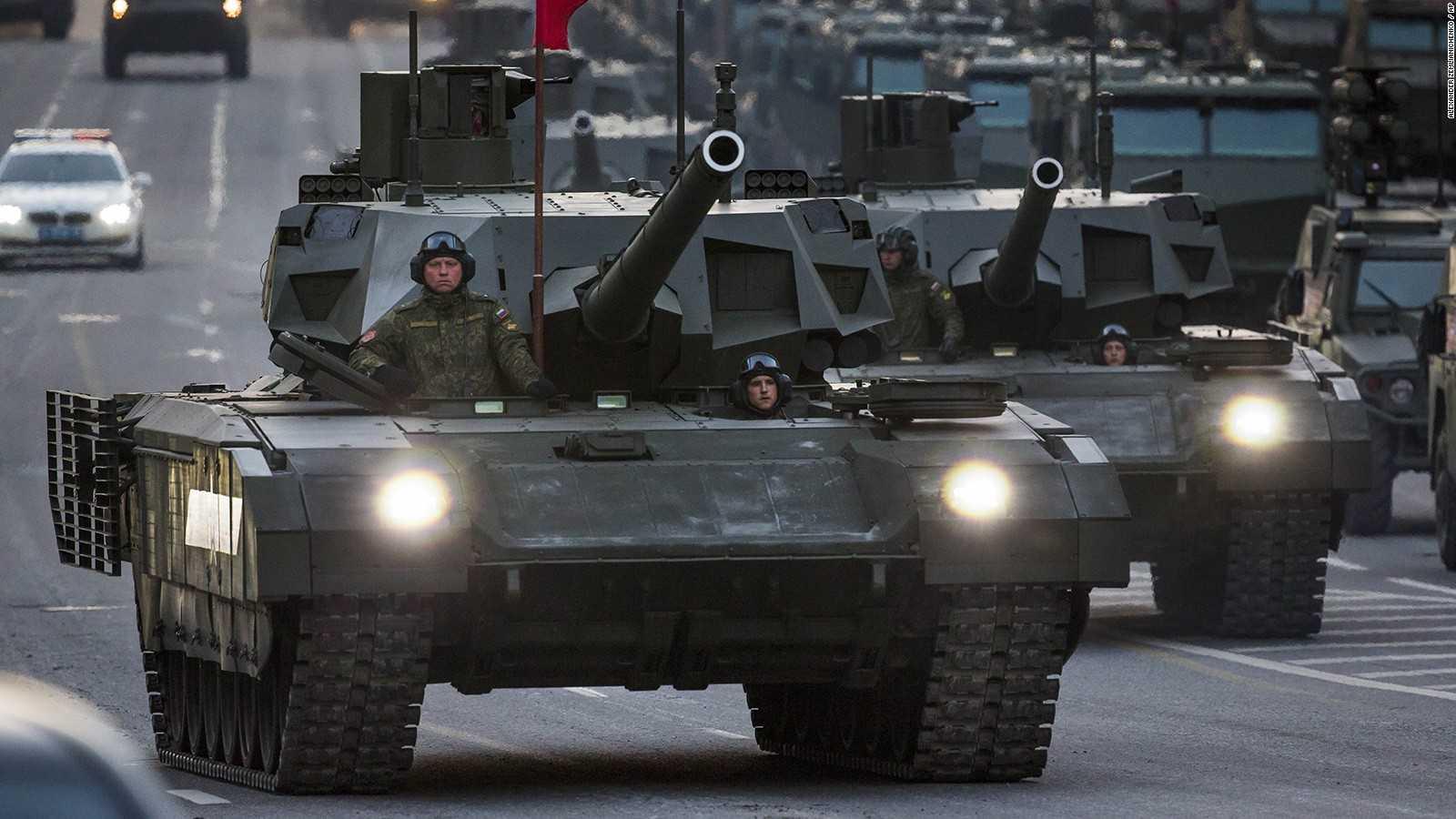 Xe tăng Armata chuẩn bị cho lễ duyệt binh ngày Chiến thắng