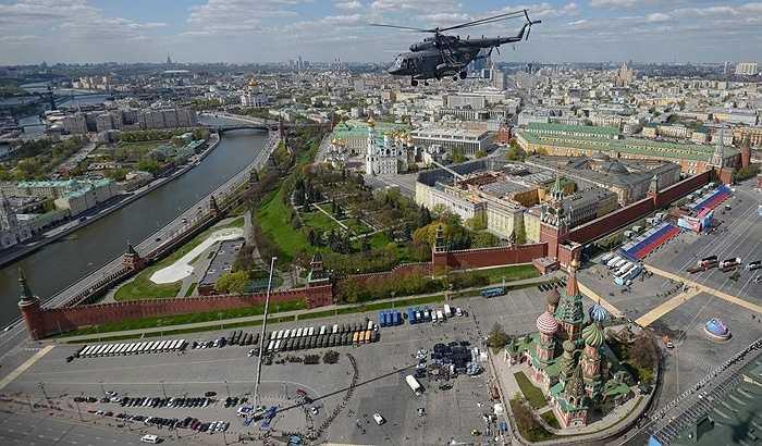 Không khí luyện tập duyệt binh ở Quảng trường Đỏ