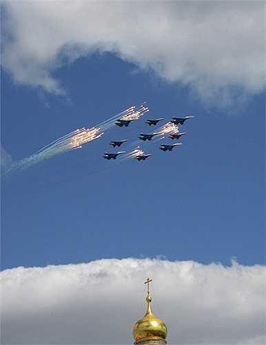 Đội hình Su-27 và MiG-29