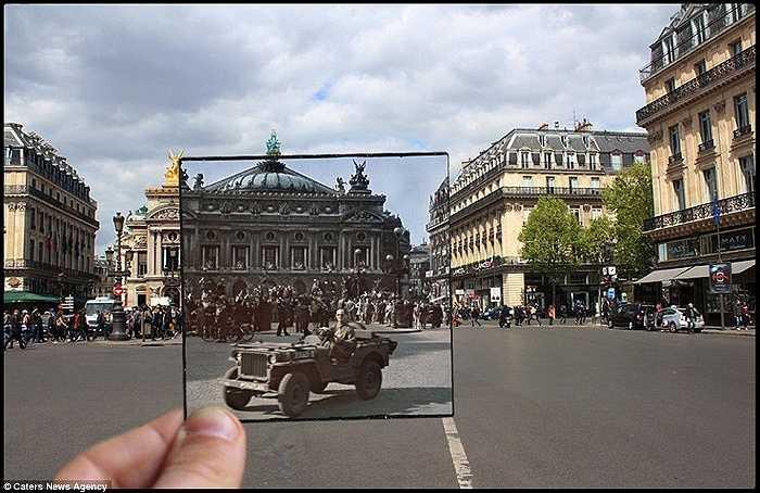 Phía trước nhà hát Palais Garnier.