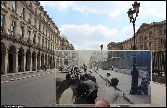 Cuộc đấu súng ở Rue de Rivoli. Giờ đây địa điểm này là khu mua sắm thời trang lộng lẫy nhất thành phố Paris