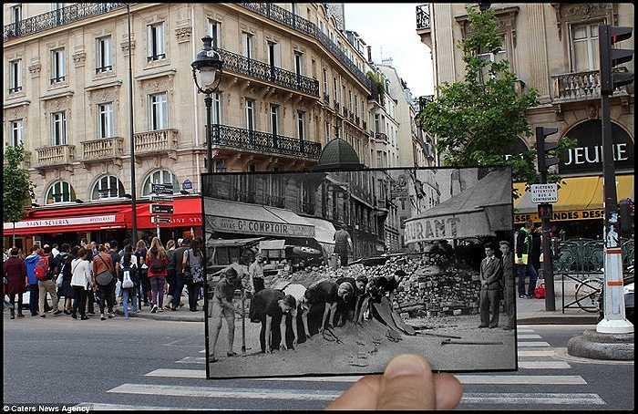 Đường Saint-Michel ngày ấy và bây giờ