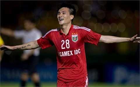 Bàn thắng duy nhất của trận đấu được ghi bởi Lê Công Vinh. (ảnh: Hoàng Hùng)