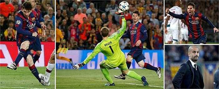Trong một thế trận giằng co quyết liệt giữa Barca và Bayern, Lionel Messi đã có hai pha làm bàn đẳng cấp, định đoạt kết quả trận đấu.