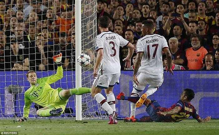Neuer giành chiến thắng tất cả trong nhửng lần đối mặt với đối phương.