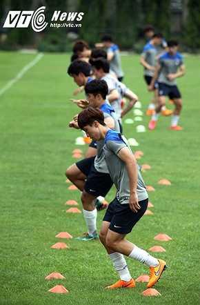 U23 Hàn Quốc có thể hình và thể lực tốt