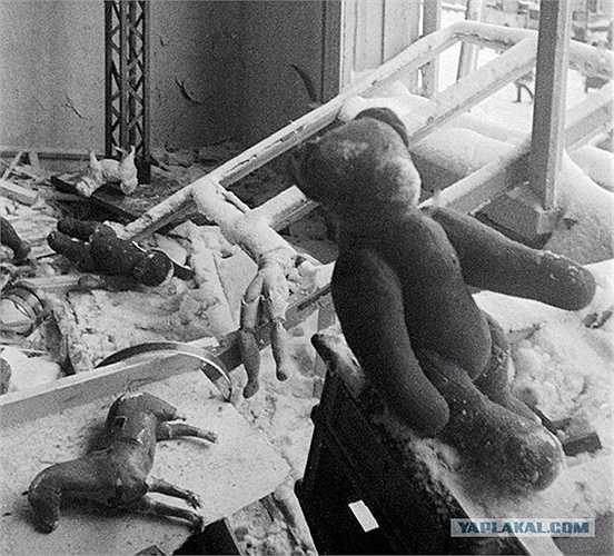 Nhà trẻ bị phá hủy ở Tikhvin