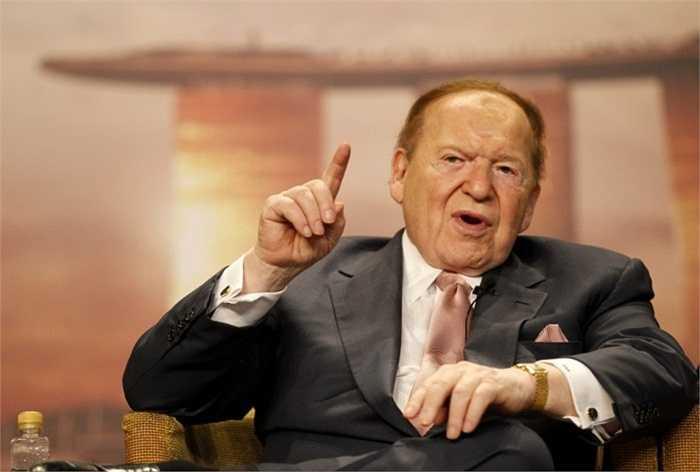 Sheldon Adelson - tài sản 28,7 tỷ USD. CEO của sòng bài Las Vegas bỏ học ở năm thứ 2 của Đại học City College of New York để bắt đầu kinh doanh