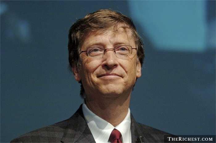 Bill Gates - tài sản 80,4 tỷ USD. Người đàn ông giàu nhất thế giới chưa hoàn thành việc học của mình tại Đại học Havard và điều này không thể ngăn cản ông trở thành một nhà kinh doanh tài ba và xuất chúng