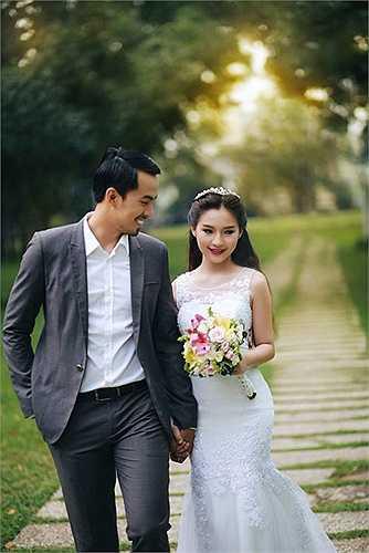 Duy Nhân hơn vợ 5 tuổi. Hai người đã có thời gian tìm hiểu 4 năm trước khi làm đám cưới.