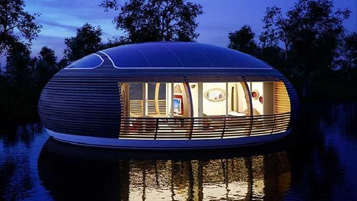 Đây là thiết kế của kiến trúc sư Italia Giancarlo Zema, mang tên Waternest, có đủ không gian sống thoải mái cho một gia đình gồm 4 người.