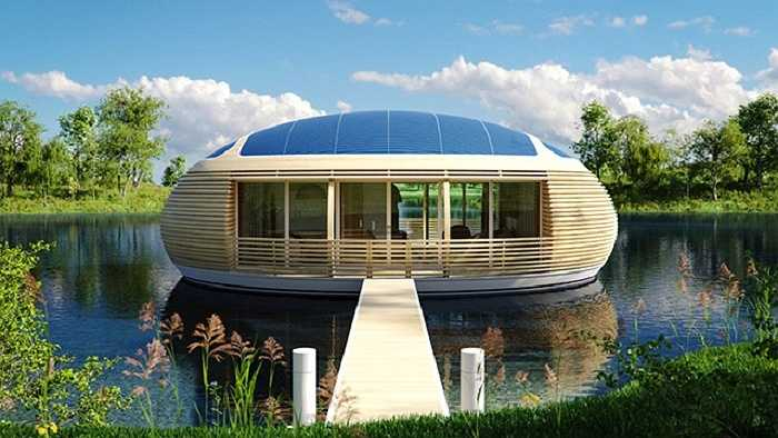 Do nổi trên mặt nước nên Waternest được thiết kế sao cho thể hiện tính thân thiện với môi trường nhất. Đó là lý do nó được làm từ nhôm tái chế, gỗ tái sử dụng…