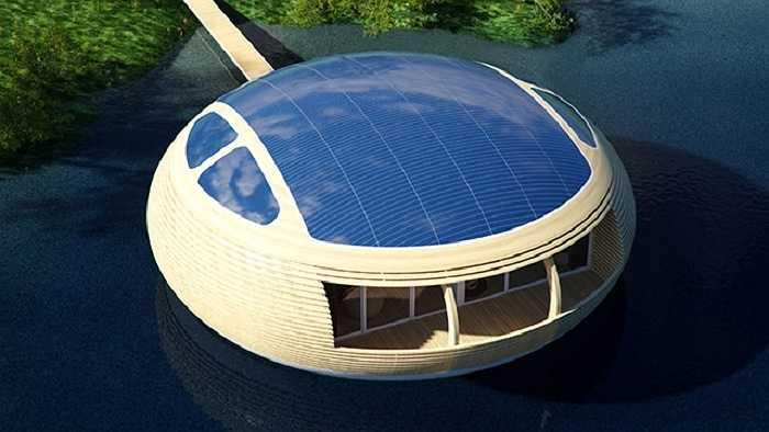 Thân nhà giống như một con thuyền giúp Waternest có thể được neo lại ở bất cứ bến cảng nhỏ nào ở độ sâu hai mét.