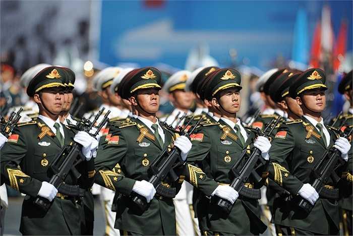 Các binh sỹ Trung Quốc trước lễ kỷ niệm 70 năm chiến thắng Phát xít Đức