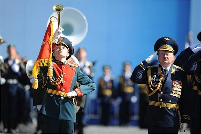Đội quân nhạc của Nga trong lễ duyệt binh