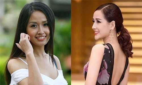 Trong nhiều bức hình chụp ở góc nghiêng, Hoa hậu Mai Phương Thúyđều để lộ chiếc cằm dài nhọn bất thường.