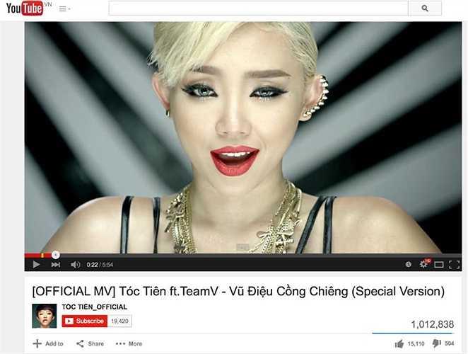 Nữ ca sỹ chia sẻ MV Vũ điệu cồng chiêng tăng chóng mặt lượng người xem.
