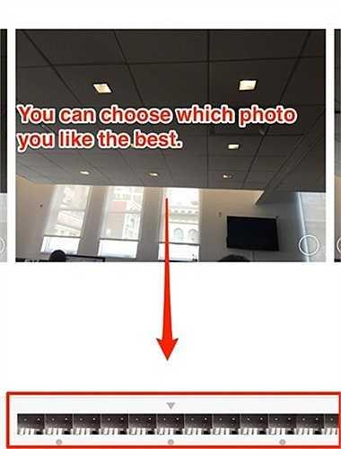 Chạm và giữ phím chụp trên màn hình để kích hoạt chế độ chụp ảnh liên tục Burst Mode, có thể chụp 10 ảnh/giây.