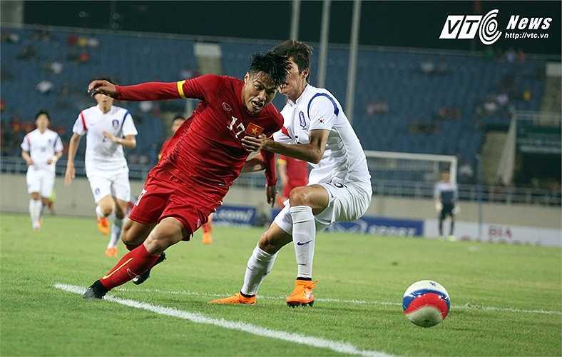 Dù mới tập trung 4 ngày trước đó, nhưng U23 Việt Nam bước vào trận đấu với U23 Hàn Quốc đầy tự tin. (Ảnh: Nhạc Dương)