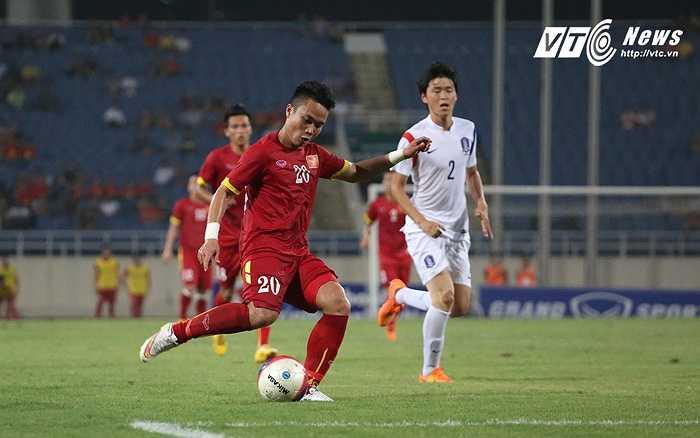 Thể lực của các cầu thủ U23 Việt Nam ở trận này là khá tốt. (Ảnh: Nhạc Dương)