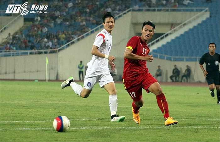U23 Việt Nam tạo ra khá nhiều cơ hội trước khung thành U23 Hàn Quốc. (Ảnh: Nhạc Dương)