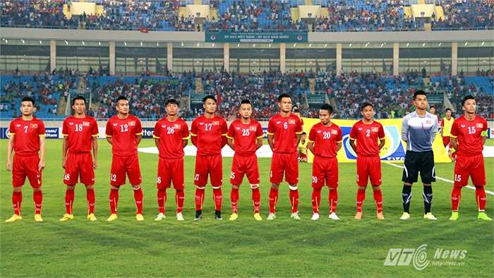 Phi Sơn (20) được HLV Miura chọn xuất phát trong đội hình U23 Việt Nam đấu U23 Hàn Quốc. (Ảnh: Quang Minh)