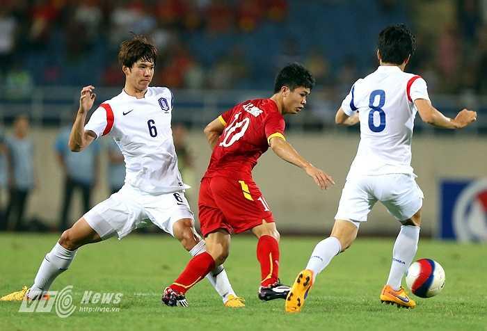 Nếu tiếp tục thể hiện như ở trận đấu với U23 Hàn Quốc, Công Phượng sẽ chỉ là dự bị cho 'Ronaldo Việt'. (Ảnh: Quang Minh)
