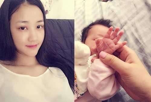 Nữ ca sĩ Maya cũng vừa lên chức mẹ được 3 tháng. Hồi tháng 2, người đẹp phim Scandal vượt cạn suôn sẻ ở Mỹ. Ngay sau khi sinh con, Maya đăng ảnh chụp đôi bàn chân của con gái lên mạng xã hội.