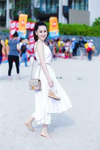 Thái Như Ngọc tích cực tham gia cổ động cho các hoạt động thể thao.