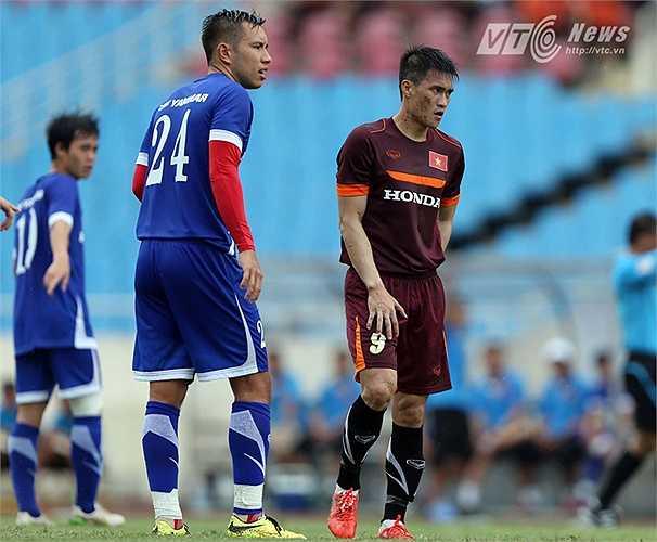 Đến phút 81, trên chấm 11m, Công Vinh ấn định chiến thắng 3-0 cho ĐT Việt Nam.