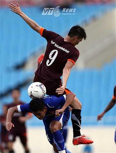 Đức Lương chỉ được triệu tập lên tuyển vào phút chót và gần như không thể trụ lại U23 Việt Nam.(Ảnh: Quang Minh)