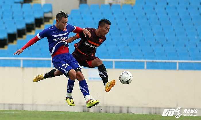 Ở trận đấu hôm qua, anh được bổ sung cho U23 Việt Nam