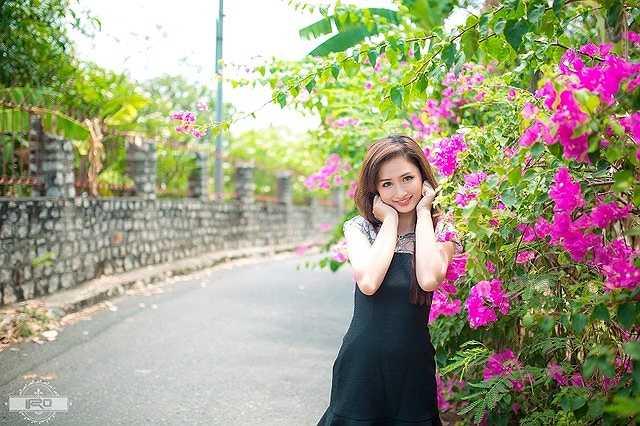 Chị Linh cũng cảm thấy may mắn khi dấu hiệu tuổi tác ít xuất hiện trên khuôn mặt