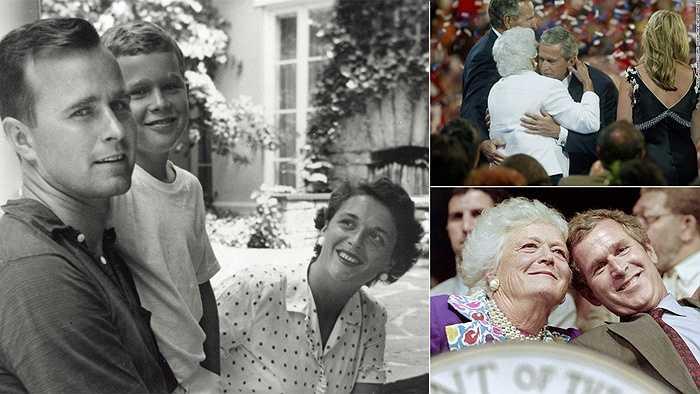 Cựu Tổng thống Bush và ảnh chụp cùng người mẹ nghiêm khắc của mình
