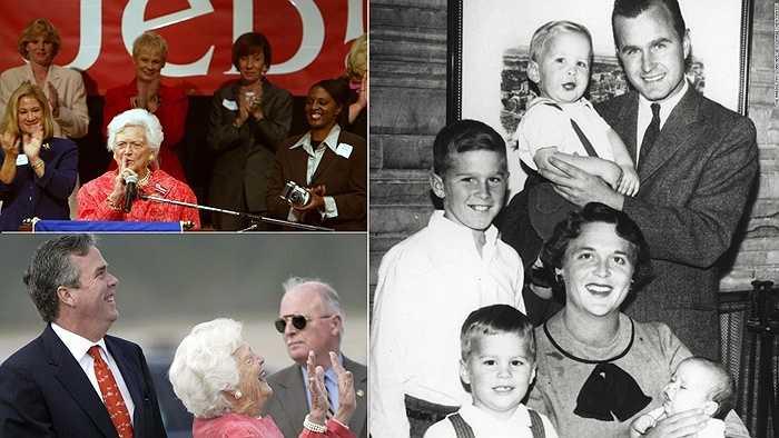 Bà Barbara Bush và những thành viên trong gia đình của mình