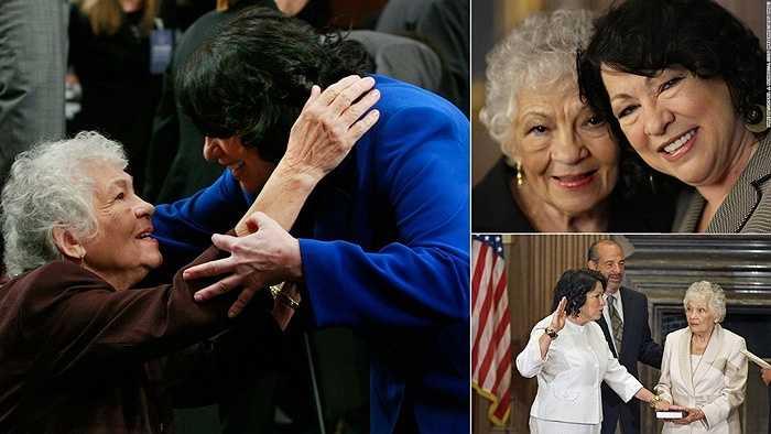 Thẩm phán Sonia Sotomayor và mẹ