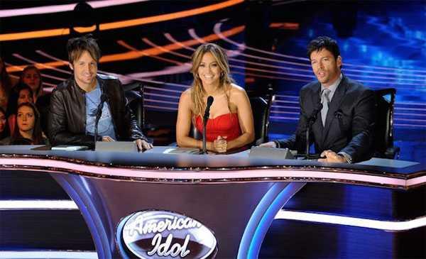 American Idol, MC Ryan Seacrest, Jennifer Lopez, Keith Urban, Harry Connick Jr.