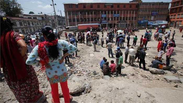 Cảnh tượng hoang tàn tại Nepal